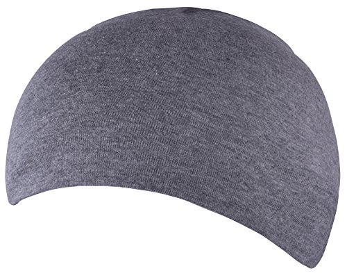 Cotton Night Caps for Men Sleeping Cap Coolest Hats for Hairless Chemo Dark Gray