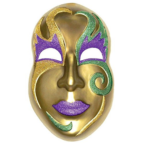 3D Gold Mardi Gras Mask Decoration ()