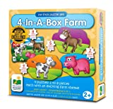 The Learning Journey My First Puzzle Sets 4-In-A-Box, Farm