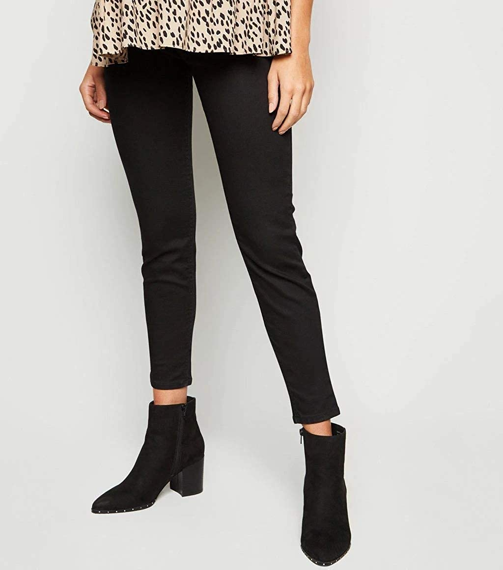Ex Highstreet Look Maternity Over Bump Black Lift /& Shape Jeggings Jeans