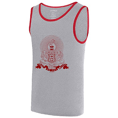 - Kappa Alpha Fraternity Crest Ringer Tank X-Large Athletic Heather/Red