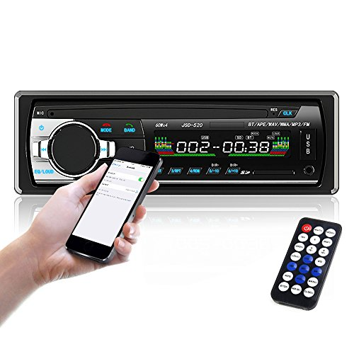 Car Stereo, Single Din Car Radio,In-Dash Bluetooth Car Stereos Receiver MP3 Player/USB/SD Card/AUX/FM with Remote Control