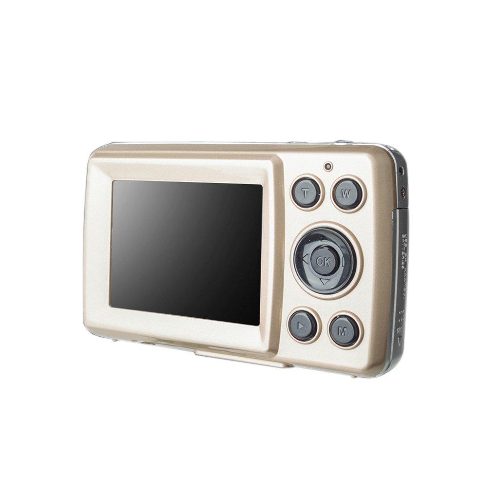 MagiDeal DC530 2.4'' TFT LCD HD 720P 16MP Digital Video Appareil Photo Camèscope Appareil photo Numérique pour Enfants XJ03A - Or