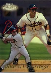 1999 Topps Gold Label Baseball Card #2 Andres Galarraga Atlanta Braves