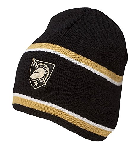 NCAA Army Black Knights Engager Beanie, One Size, Black/Vegas Gold/White