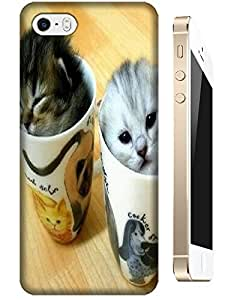 Two cute small cats in the cups Lovely miss mom design cases for Apple Accessories iPhone 4/4S