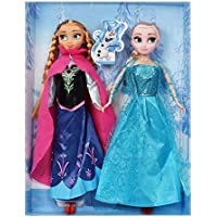 Frozen Ice and Snow doll Anna Elsa Princess Queen Barbie doll suit doll toys