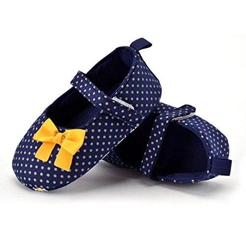 Kingko® 0-18 Monate Baby Girls Bowknot Punkt-Drucken Soft-Antirutsch -Kleinkindschuhe
