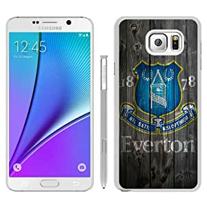 Abstract Custom Samsung Note 5 Case,Everton FC Wood White Cool Design Samsung Galaxy Note 5 Phone Case