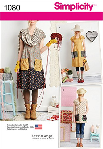 (Simplicity Pattern 1080 Misses' Dress or Tunic by Dottie Angel, Size A (XS-S-M-L-XL))