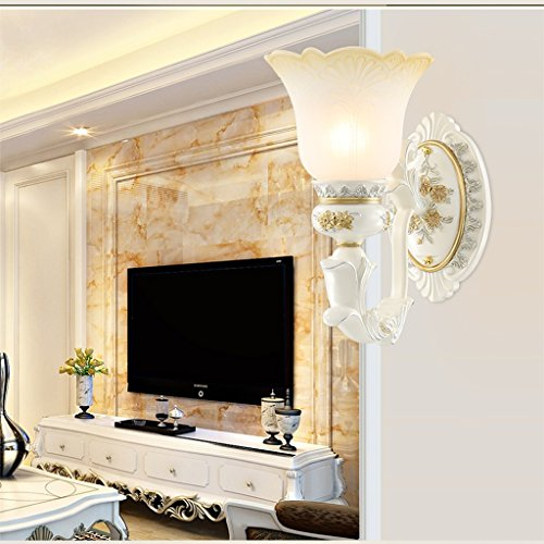 Edge To European Bedside Lamp Wall Lamp Stairway Aisle Corridor Retro Luxury Living Room Background Wall Creative Wall Lamp (Color : Single head) by Edge To (Image #2)