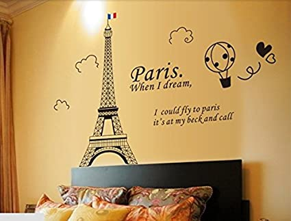 Syga U0027Black Eiffel Toweru0027 Wall Sticker (PVC Vinyl, 61 Cm X 5