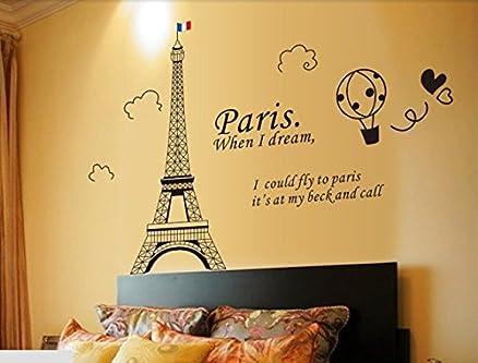 Syga U0027Black Eiffel Toweru0027 Wall Sticker (PVC Vinyl, 61 Cm X 5 Part 54