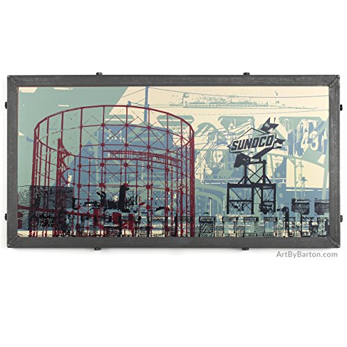 philly-refinery-mashup-framed-silkscreen-print-in-handcrafted-welded-frame-with-schuyllkill-river-an