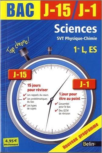 Sciences, SVT physique-chimie 1re L, ES pdf