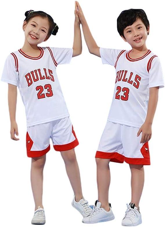 BASPORT Chicago Bulls Jorden # 23 Jersey para niños Jersey, camiseta, camiseta jugador de baloncesto. Chándal deportivo, niño, niña jersey: Amazon.es: Deportes y aire libre