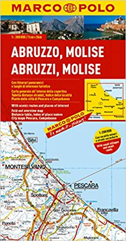 ItalyAbruzzo Molise Marco Polo Map Marco Polo Maps Marco Polo