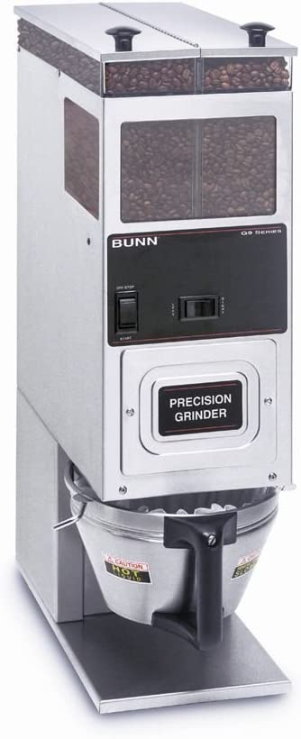 BUNN S/S Portion Control Coffee Grinder with Dual 6 Lb. Hoppers