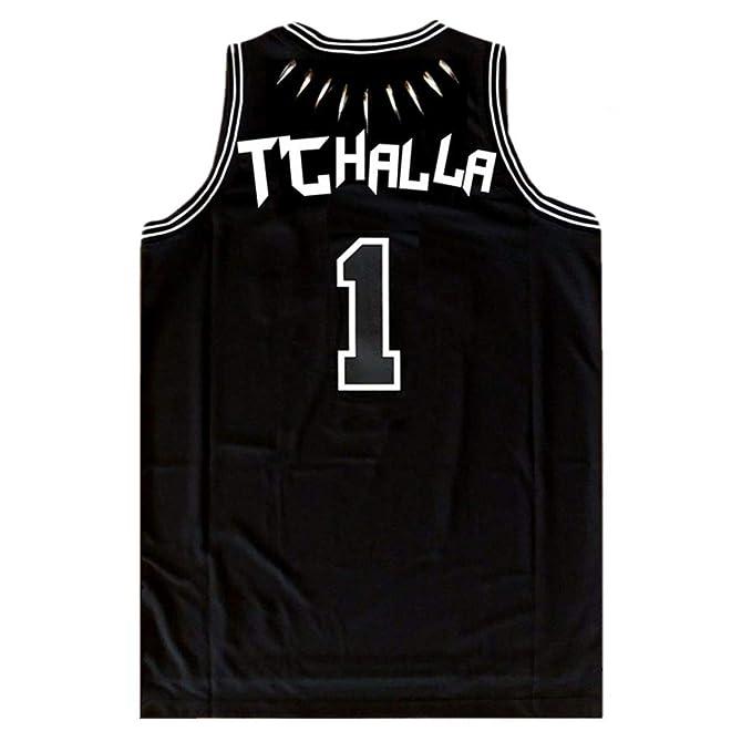 13c80962c8e Killmonger Black Panther Movie Wakanda T'Challa Basketball Jersey Stitched  Ship from USA S-