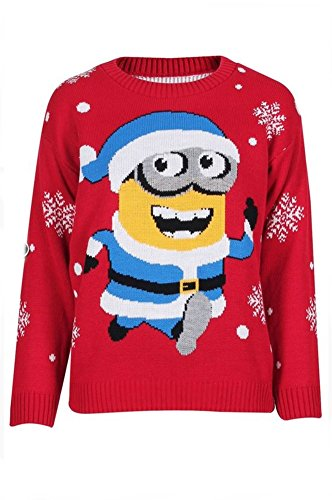 Ugly Christmas Sweater Womens Minion Santa