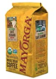 Mayorga Organics Cafe Cubano 2lb, 5lb Dark Roast Whole Bean Organic Coffee