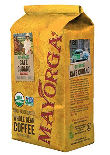 Whole Dark Roast Bean - Mayorga Organics Cafe Cubano Dark Roast, 2 Pound, Whole Bean Coffee, Direct Trade, 100% USDA Organic Certified, Non-GMO, Kosher