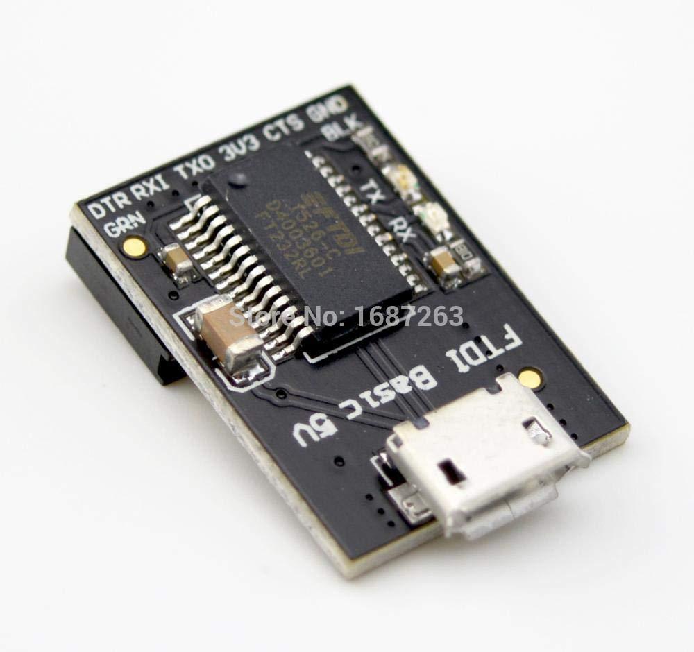 HEASEN Readytosky FTDI Basic USB-TTL 6 PIN 5V Fio Pro RGB Lilypad Program Downloader for Arduino Micro USB