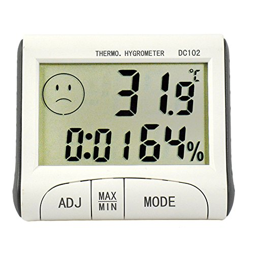 (Balepha Indoor LCD Screen Magnet Digital Room Thermometer Hygrometer Humidity Monitor for Kitchen Bedroom Celsius or Fahrenheit)