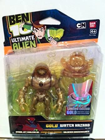 BEN 10 GOLD 10cm ULTIMATE WATER HAZARD LIMITED EDITION ...