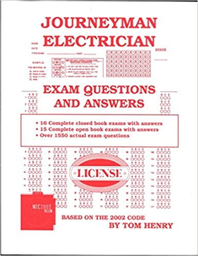 journeyman electrician exam questions and answers tom henry