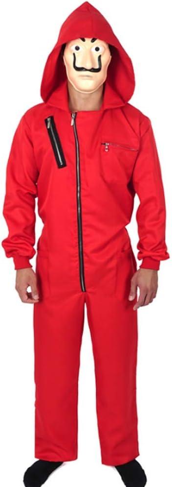 ZHANGXX La Casa De Papel Disfraz Red Overol Dali Mono para Disfraz ...