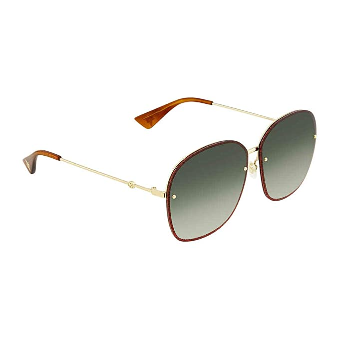 bb9fe1ef767 Image Unavailable. Gucci GG0228S GOLD GLITTER RED GREEN SHADED women  Sunglasses