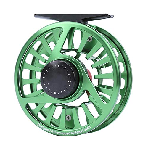 Fly Fishing Reel 3/4/5/6/7/8WT Machined Aluminium Micro Adjusting Drag Fly Reel,Red,9000 Series