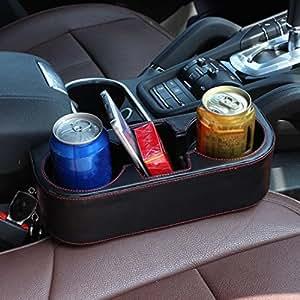 Binmer(TM) Black 2 Cup Holder Drink Beverage Seat wedge Car Auto Truck Universal Mount