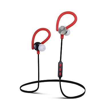 Transer® Auricular inalambrico Bluetooth pregunto Deportes auriculares auriculares para iPhone Samsung (Rojo)