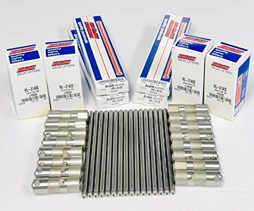 Elgin, IL USA Heat Treated 1010 Steel High Performance Pushrod compatible with 1999-2016 GM 4.8L 5.3L,5.7L Elgin Industries Set of 6.0L /& 6.2L LS Engines 16