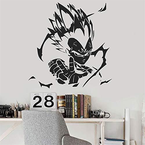 (Umondon Vinyl Wall Decals Quotes Sayings Words Art Deco Lettering Inspirational Dragon Ball Z (DBZ) Vegeta Anime for Kids Room Decor Window Nursery Bedroom)