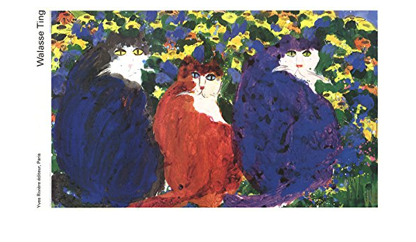 """Blue, WALASSE TING Flowers 62.25/"""" x 43.25/"""" Poster 1989 Contemporary Multicolor"""