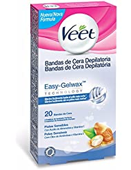 Veet Easy Gelwax Body Bands Depilatory Wax Skin Sensitive X20