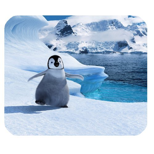 A Small Penguin Step on Iceberg Customized Rectangle Mouse Pad