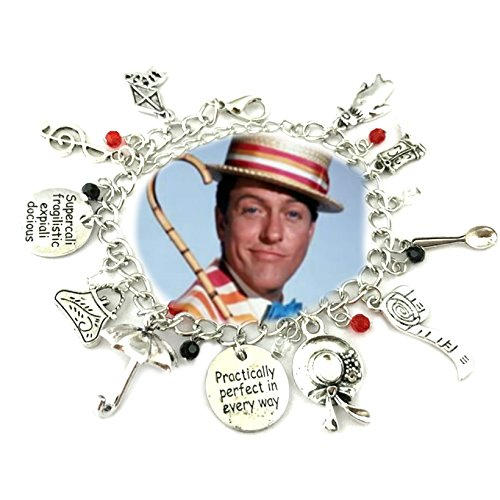 Mary Poppins Movie Silver Tone Multiple Charms Bracelet w/Gift Box by Superheroes (Awesome Mother Daughter Halloween Costumes)