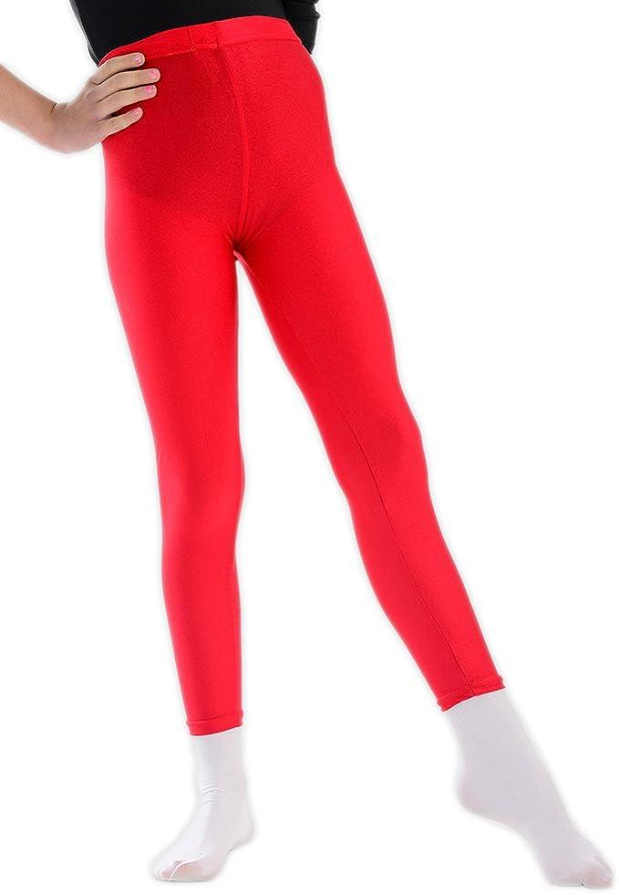 Filles Taille Haute Brillant Dance Disco Leggings 5 To 12 ans disponible en couleurs