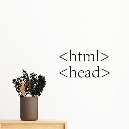 Amazon Com Programmer Program Statement Html Removable Wall Sticker