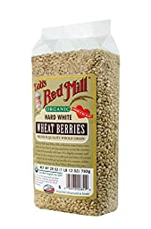 Bob\'s Red Mill Org Hard White Wheat Berries, 28 Ounce (Pack of 4)