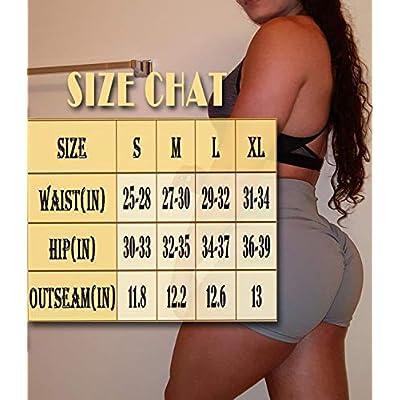 KIWI RATA Women's High Waisted Yoga Shorts Sports Gym Ruched Butt Lifting Workout Running Hot Leggings: Clothing