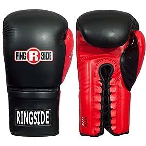 Ringside Lace IMF Tech Training Gloves, Black, 14 oz