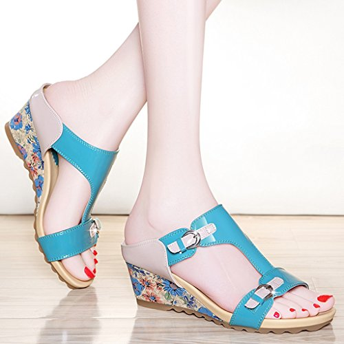 C Ms Verano Libre Zapatillas mujer Aire Inferior Tamaño 39 A Moda Zapatos Color Sandalias Espesor para HWF Al De ftZw1SxP