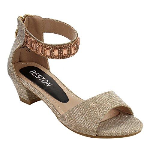champagne color dress sandals - 7