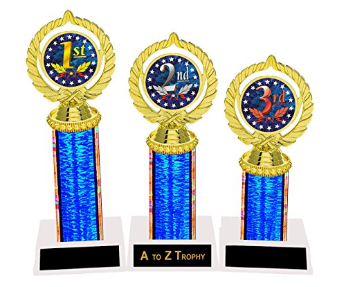 1st 2nd 3rd Place Trophies Tournament Awards Academic Achievement Education Games Sports Trophy Free Engraving Color Choice