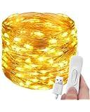 Litogo Fairy Lights,39Ft 120LED USB Fairy Lights for Bedroom Twinkle Lights for Bedroom Waterproof String Lights Indoor…